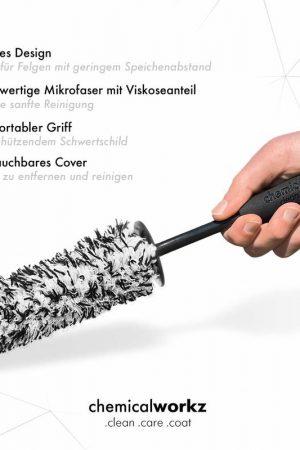 chemicalworkz Flat Wheel Brush Black White